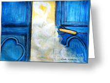 Knocking On Heavens Door Greeting Card