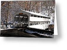 Knox Bridge In The Snow Greeting Card