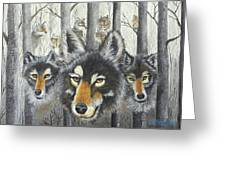 Knoxville Wolves Greeting Card
