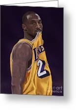 Kobe Bean Bryant Greeting Card by Jeremy Nash