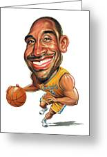 Kobe Bryant Greeting Card by Art