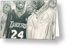 Kobe Bryant Greeting Card by Kobe Carter