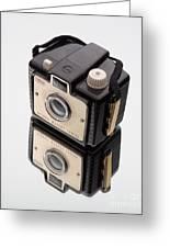 Kodak Brownie Bullet Camera Mirror Image Greeting Card