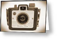 Kodak Brownie Holiday Flash Greeting Card by Mike McGlothlen