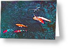Koi 3 Greeting Card