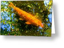 Koi Fish 1 Greeting Card