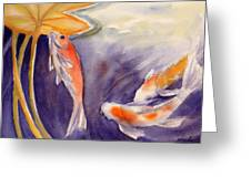 Koi In A Lily Pond 11 Greeting Card