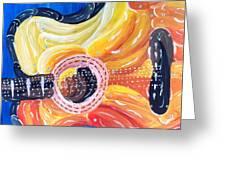 Koi Guitar Greeting Card