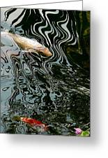 Koi In A Pond Greeting Card