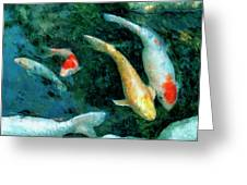 Koi Pond 2 Greeting Card