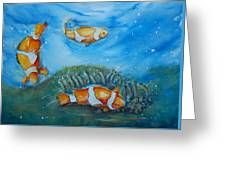 Koi's On The Reef Greeting Card