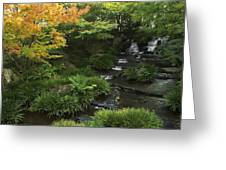 Kokoen Garden Waterfall - Himeji Japan Greeting Card
