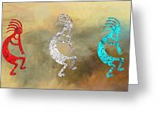 Kokopellis Greeting Card by GCannon