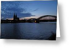 Koln Rhine Greeting Card by David  Hawkins