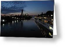 Koln Rhine Reflections Greeting Card