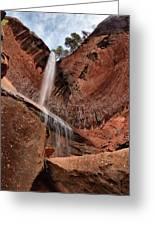 Kolob Canyons Falling Waters Greeting Card