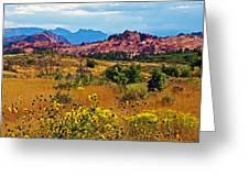 Kolob Terrace Road In Zion National Park-utah Greeting Card