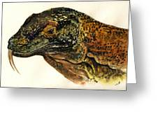 Komodo Monitor Greeting Card