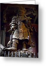 Komokuten Guardian King - Nara Japan Greeting Card