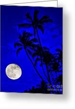 Kona Moon Rising Greeting Card