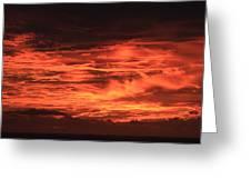 Kona Sky On Fire  Greeting Card