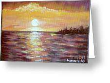 Kona Sunset Greeting Card