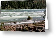 Kootenai Falls Montana Greeting Card