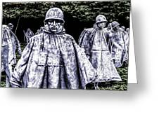 Korean War Veterans Memorial Washington Greeting Card