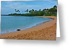 Kpalua Bay Beach Greeting Card