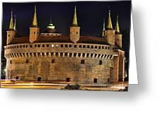 Krakow Barbican Greeting Card