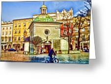 Krakow Main Square Old Town  Greeting Card