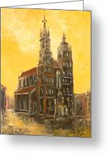 Krakow - Mariacki Church Greeting Card