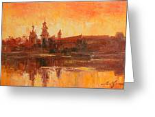Krakow - Wawel Impression Greeting Card