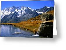 Kreuzboden Lake Greeting Card