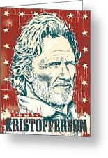 Kris Kristofferson Pop Art Greeting Card