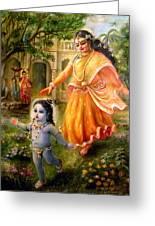Krishna Damodara Greeting Card by Lila Shravani