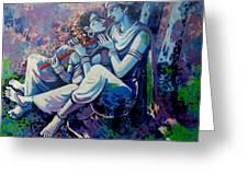 Krishna Radha Greeting Card