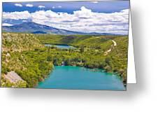 Krka River National Park Canyon Greeting Card