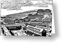 Krupp's Factory, Essen  Machine Shop Ix Greeting Card