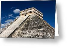 Kukulkan Pyramid At Chichen Itza Greeting Card