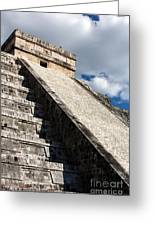 Kukulkan Pyramid Shadows Greeting Card