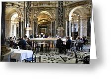 At The Kunsthistorische Museum Cafe II Greeting Card