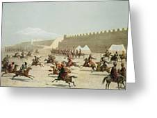 Kurdish And Tatar Warriors At Sadar Greeting Card
