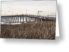 Kure Beach Pier Greeting Card