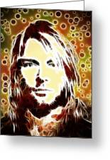 Kurt Cobain Digital Painting Greeting Card