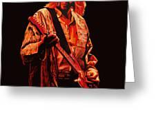 Kurt Cobain Painting Greeting Card by Paul Meijering