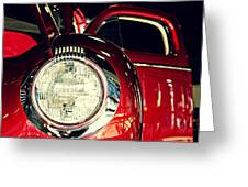 Kustom Red Coupe Greeting Card