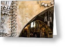 Kutna Hora Bone Church Greeting Card by Joanna Madloch
