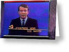 Kvoa Tv Anchorman Interviewer Writer Photographer Dick Mayers Screen Capture Collage Circa 1965-2011 Greeting Card
