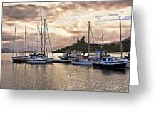 Kyleakin Harbor And Castle Moil Greeting Card